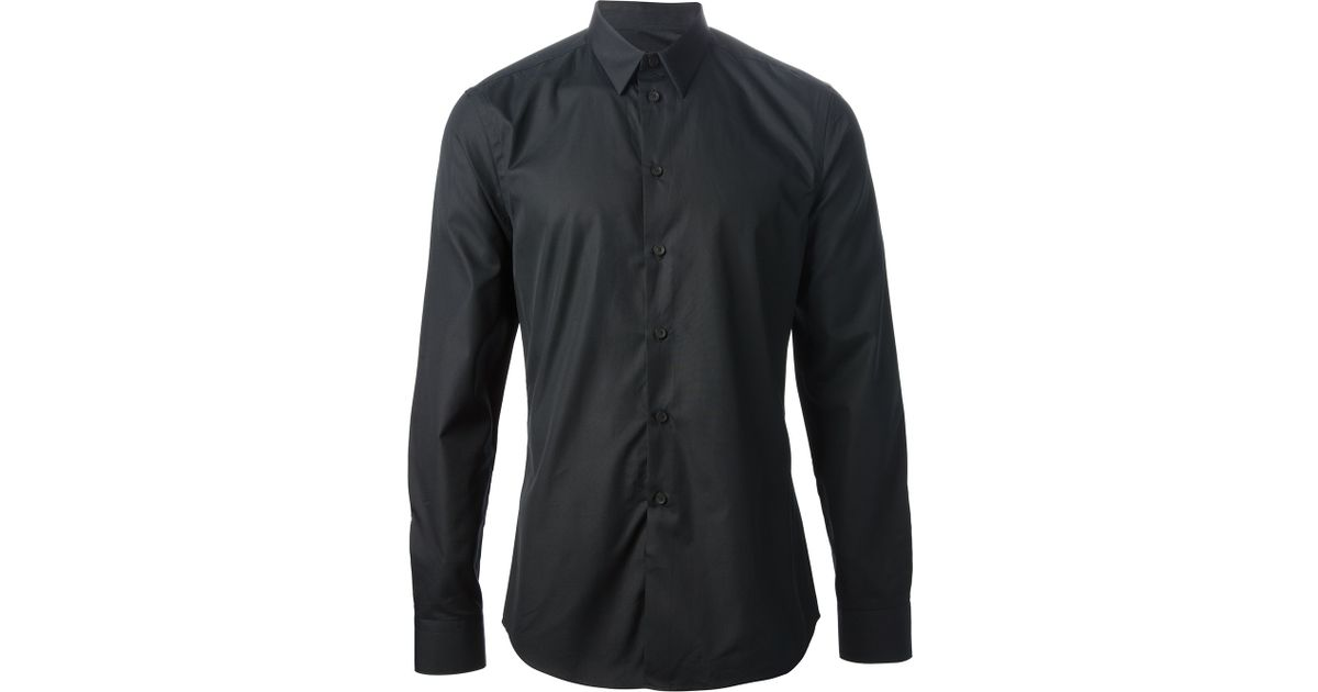 Givenchy Collared Shirt in Black for Men   Lyst