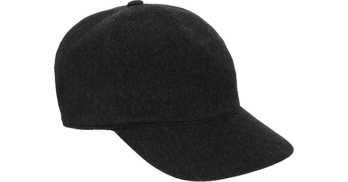 Borsalino Cashmere Cap in Black for Men - Lyst eed530586d71