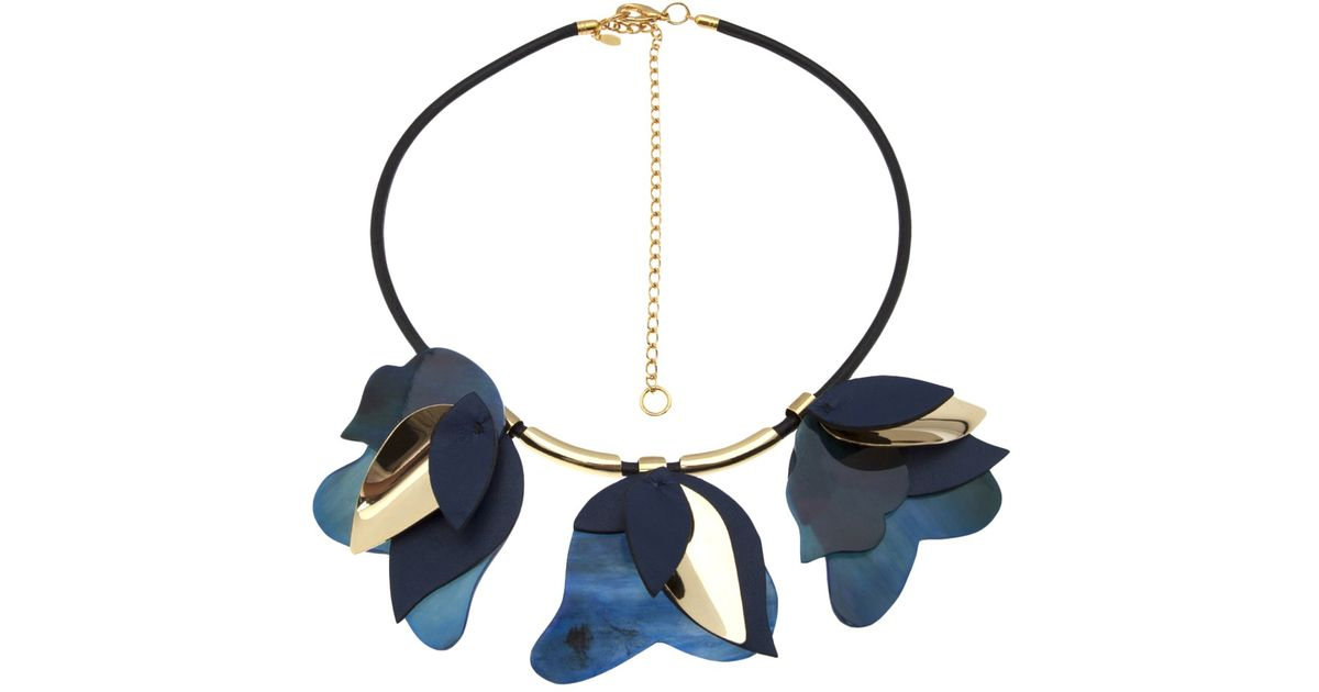 in tone product a resin gold net necklace marni leather pp us com horn and porter en