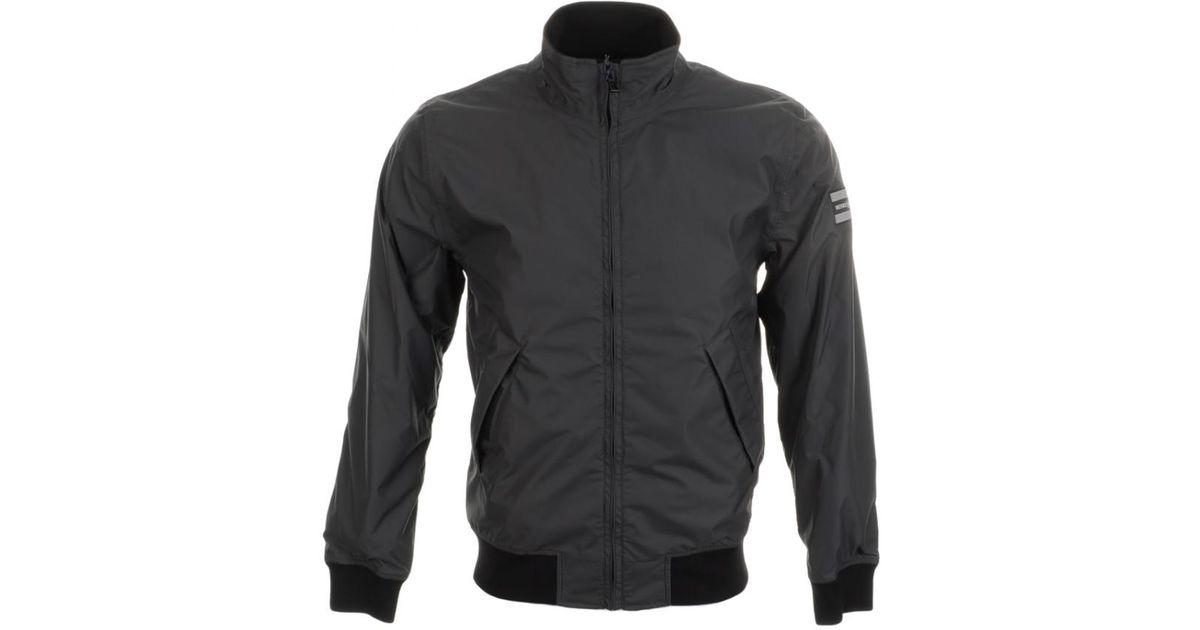 af6032d14 Henri Lloyd Blue Douglas Bomber Jacket Carbon for men