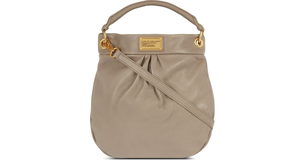 1b5c5ed003b66 Marc By Marc Jacobs Classic Q Hillier Leather Hobo Bag in Gray - Lyst