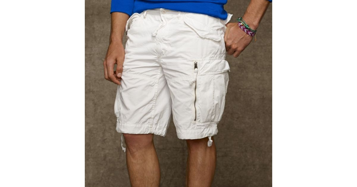 967b61941 Polo Ralph Lauren Classic Fit Cargo Short in White for Men - Lyst