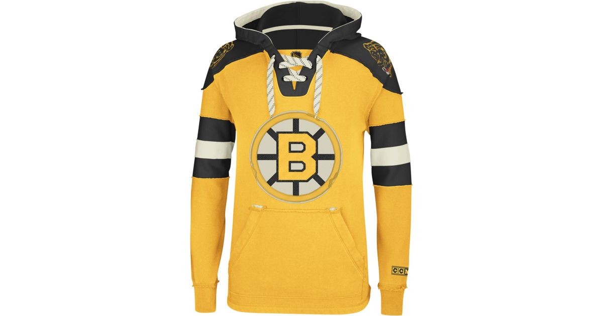 05d91bc75f2 Lyst - Reebok Nhl Pullover Hoodie in Yellow for Men