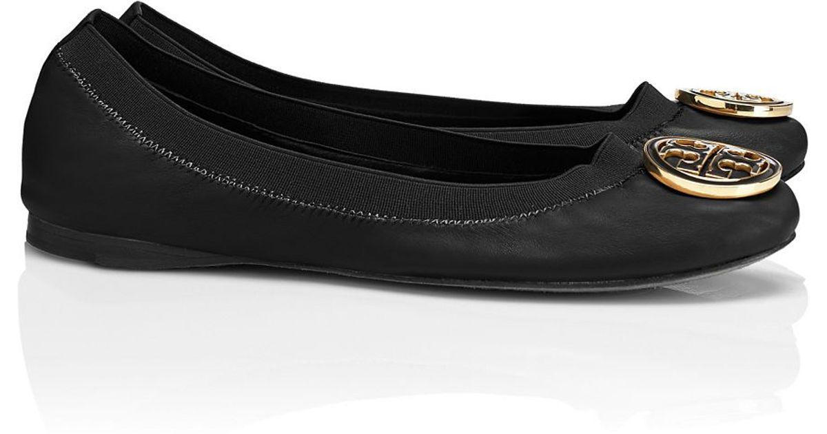 9d70406332eb Lyst - Tory Burch Caroline Ballet Flat in Black