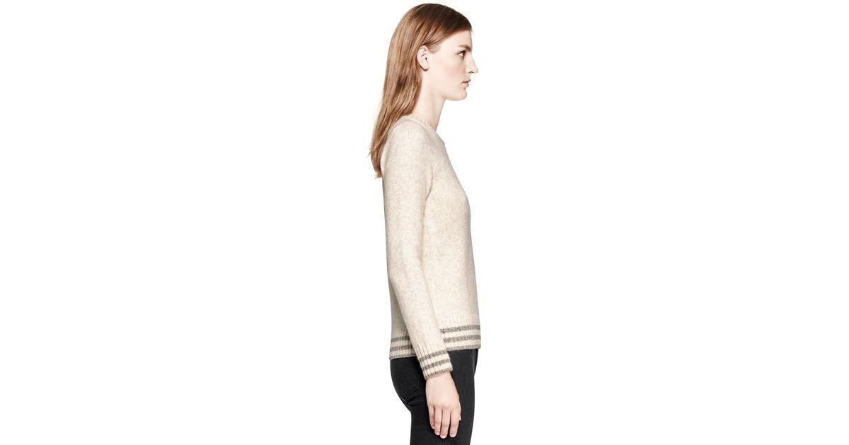 cc82cafce57e Lyst - Tory Burch Judith Sweater in Natural
