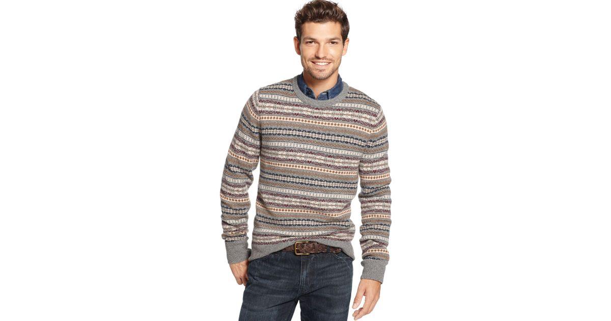 Lyst - Tommy hilfiger Trolman Fair Isle Sweater for Men