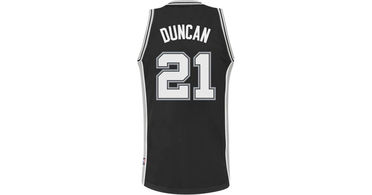 b120a4fc5f7 Lyst - adidas Mens San Antonio Spurs Tim Duncan Jersey in Black for Men