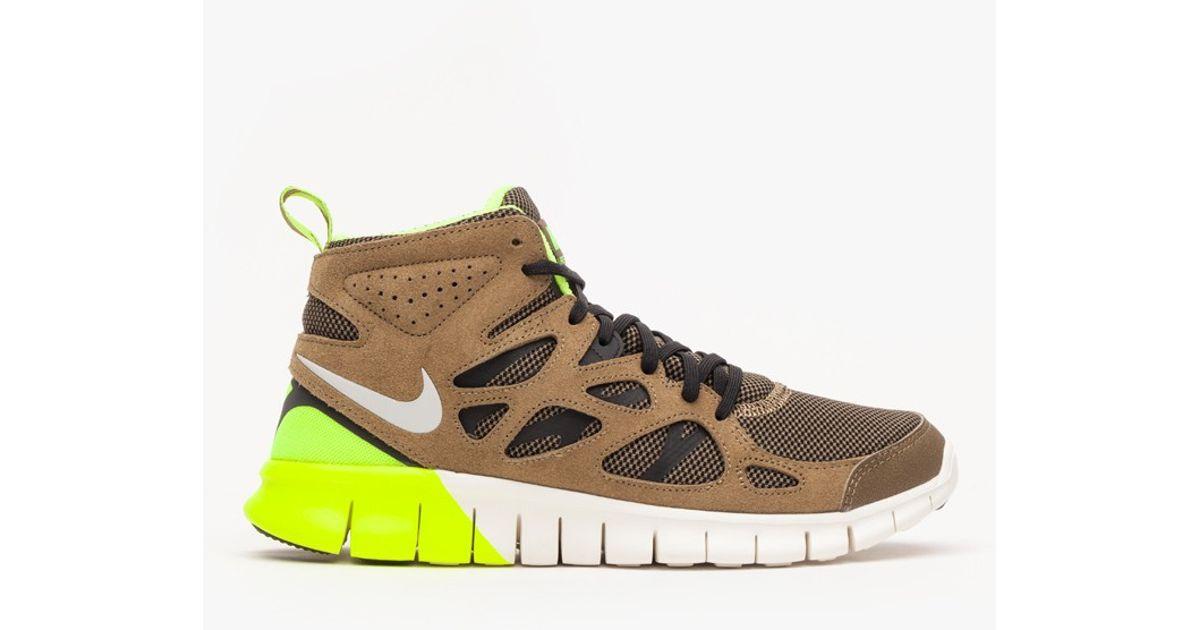 Nike Yellow Free Run 2 Sneakerboot for men