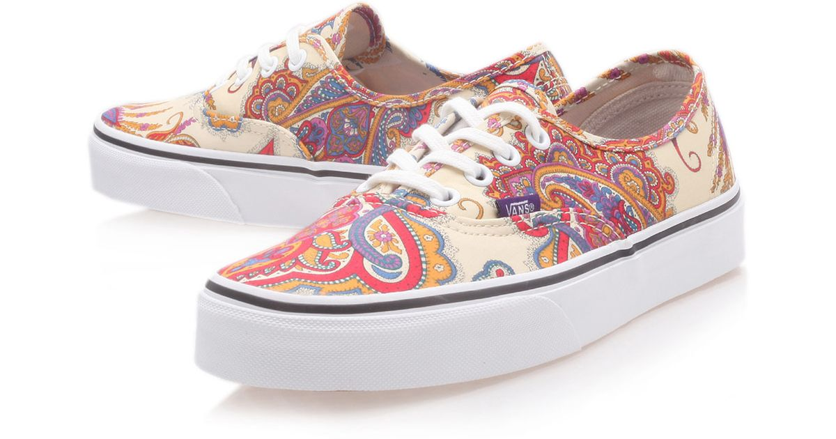 db63b56e3c Lyst - Vans Cream Flower Paisley Liberty Print Authentic Trainers in White  for Men