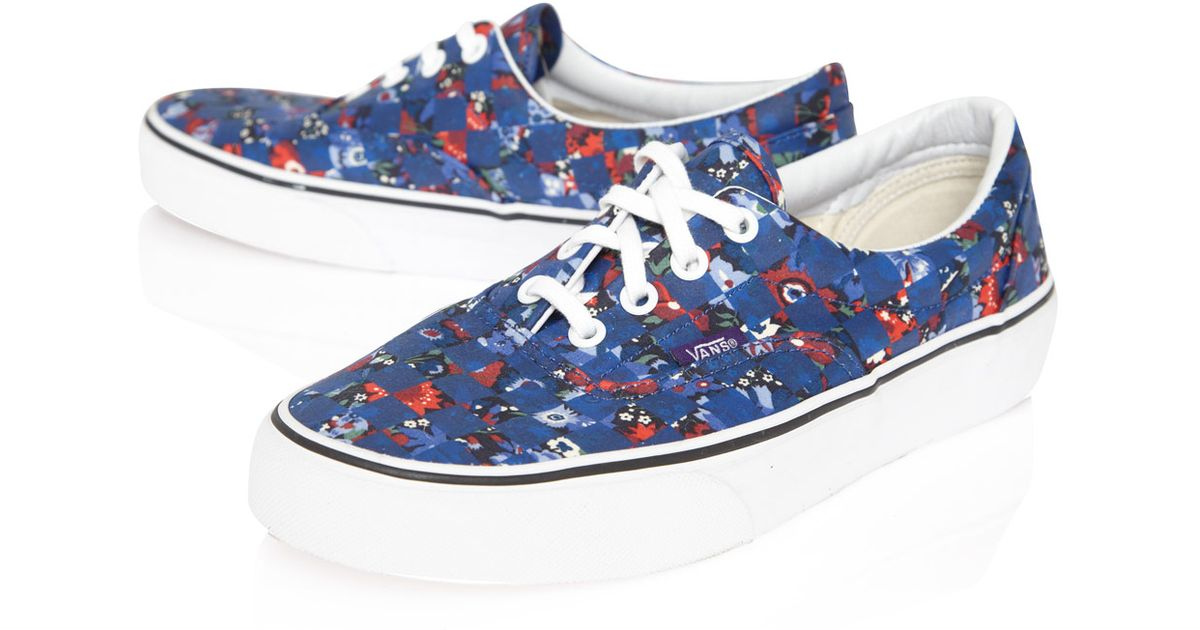 Vans Navy Floral Checker Liberty Print Era Trainers in Blue for Men - Lyst 762d0e9f0