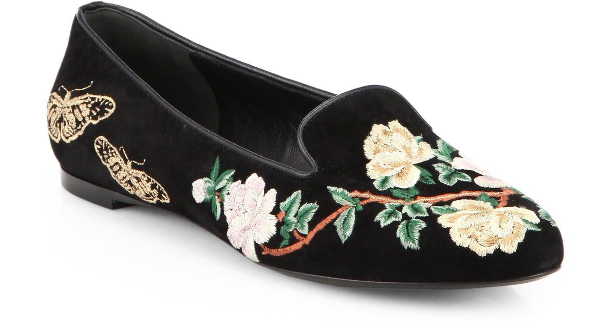 Alexander McQueen Embroidered slippers NJDuBNqYFo