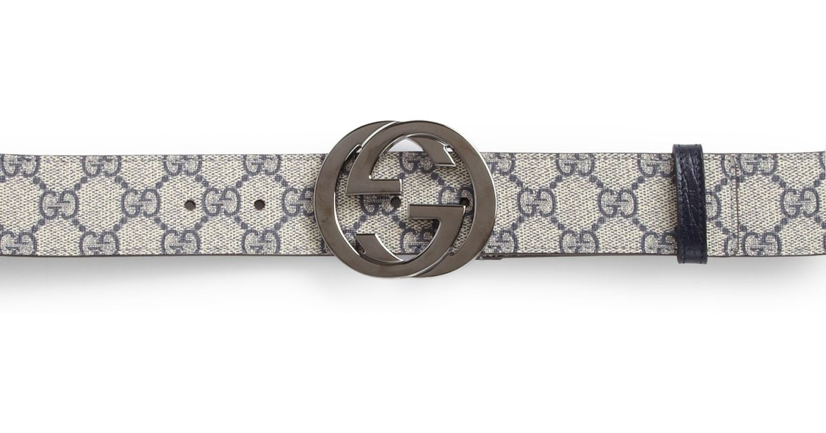 95f2cdcc6 Gucci Gg Supreme Belt in Natural for Men - Lyst