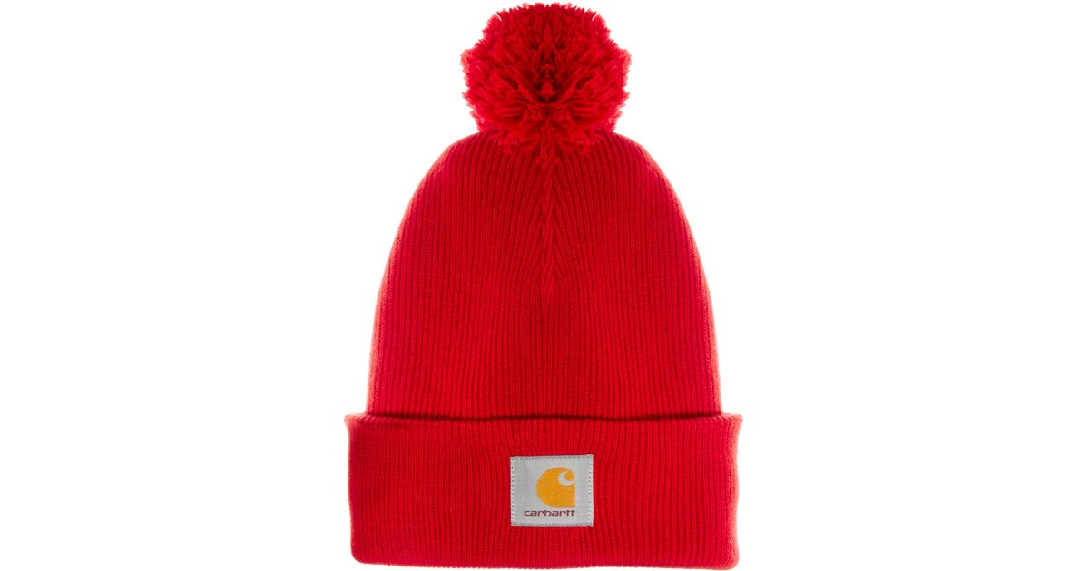 Lyst - Fjallraven Carhartt Bobble Watch Beanie Hat in Red for Men ac7a69a4432