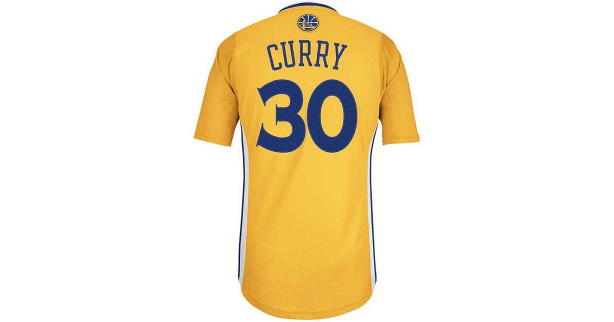 9618f2d3 adidas Mens Shortsleeve Stephen Curry Golden State Warriors Swingman Jersey  in Metallic for Men - Lyst