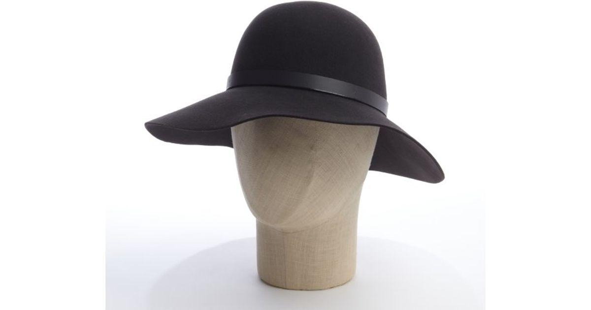 Lyst - San Diego Hat Company Dark Brown Wool Felt Leather Strap Floppy Hat  in Brown for Men f6d8e29578c
