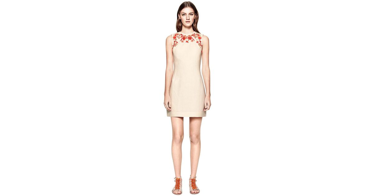 29ea0a006b1d8 Lyst tory burch leona sleeveless dress in natural jpeg 1200x630 Tory burch  sleeveless beaded tunic