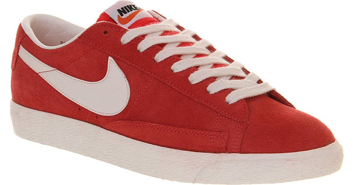 sports shoes 46d61 f79ae Nike Blazer Low Vintage Trainers in Red for Men - Lyst
