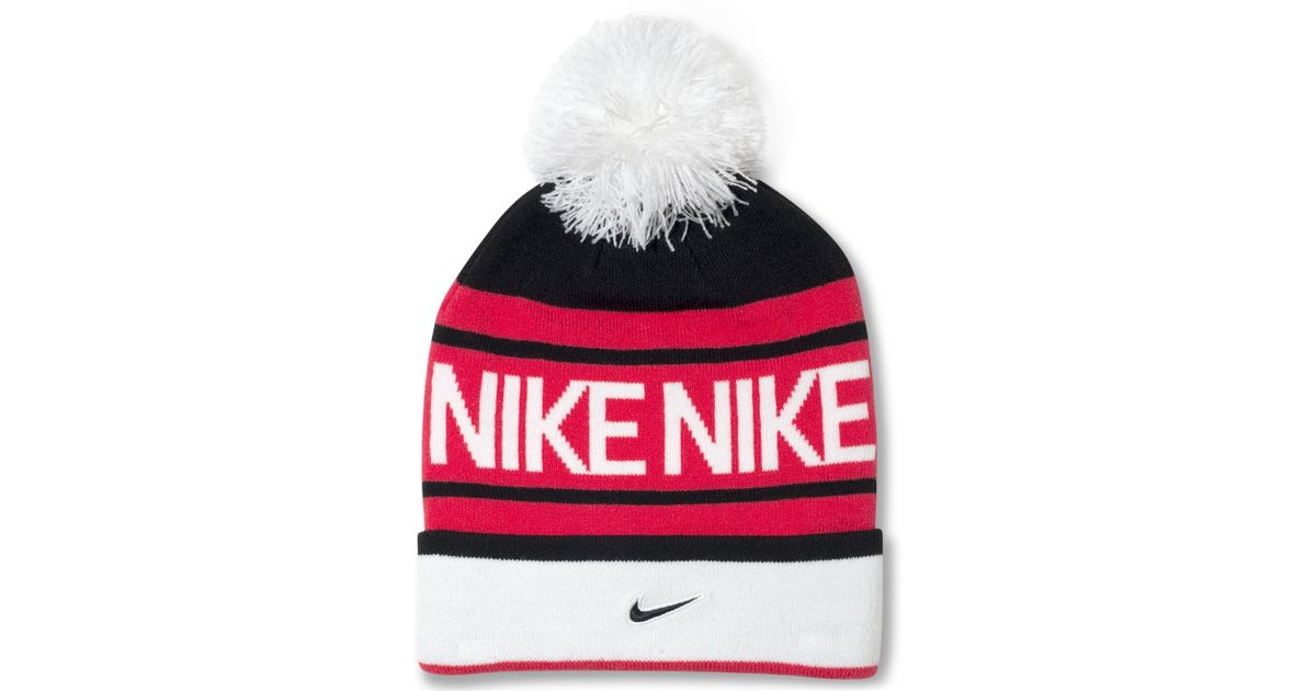 Lyst - Nike Pom Pom Beanie in Red for Men 0501d9f1d72