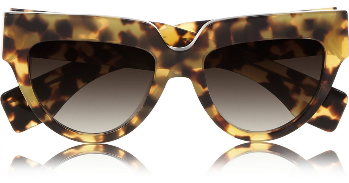 bcb4b762bf9b ... sale lyst prada cat eye tortoiseshell acetate sunglasses 073ee 21fa1