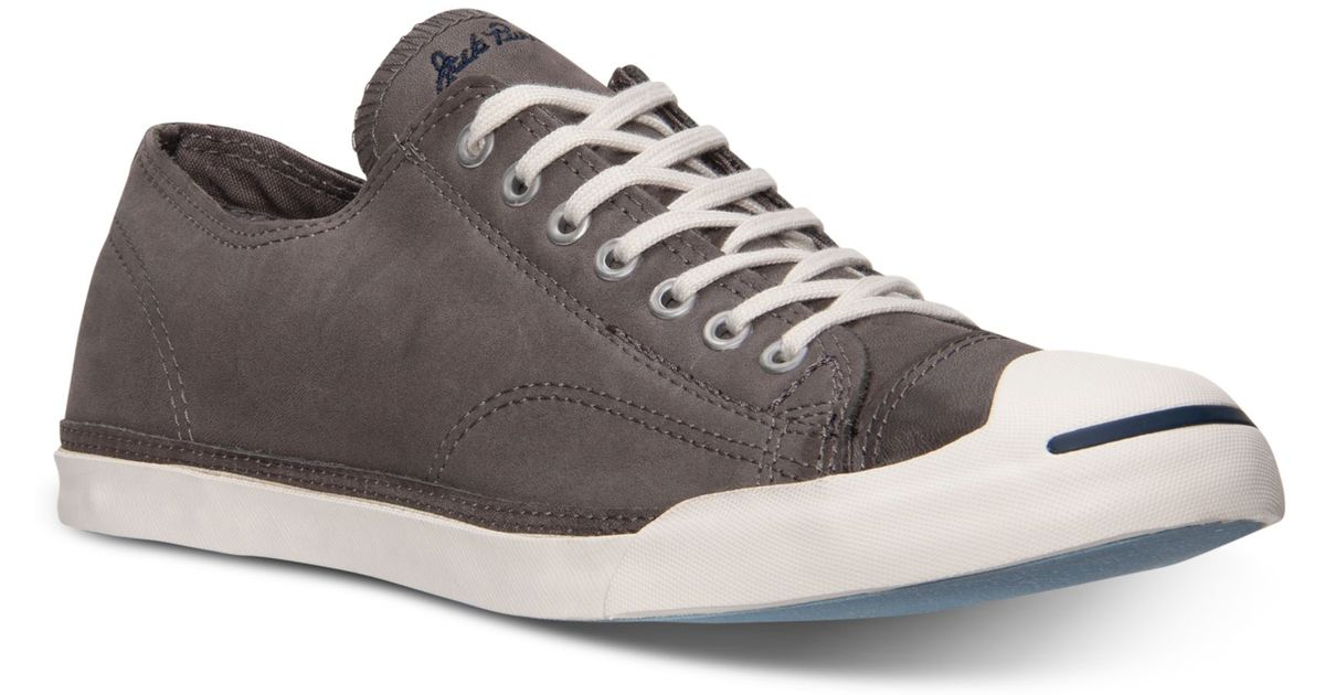 867e61b96afe Lyst - Converse Mens Jack Purcell Lp Casual Sneakers From Finish Line in  Gray for Men