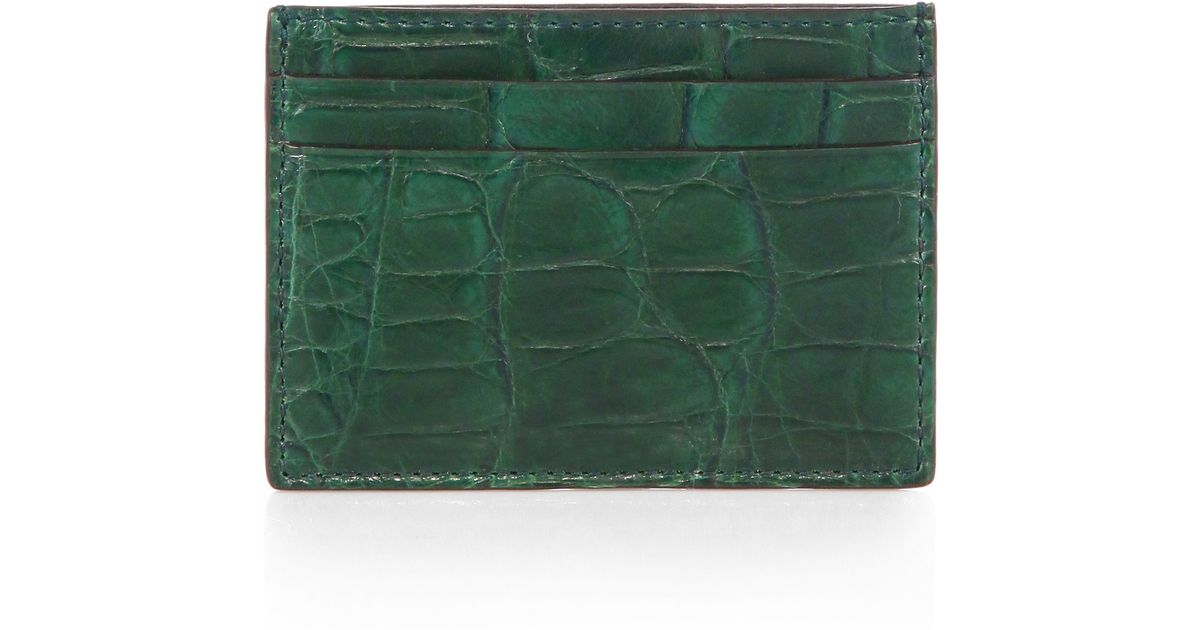 9b346b6a156 Lyst - Gucci Crocodile Card Case for Men