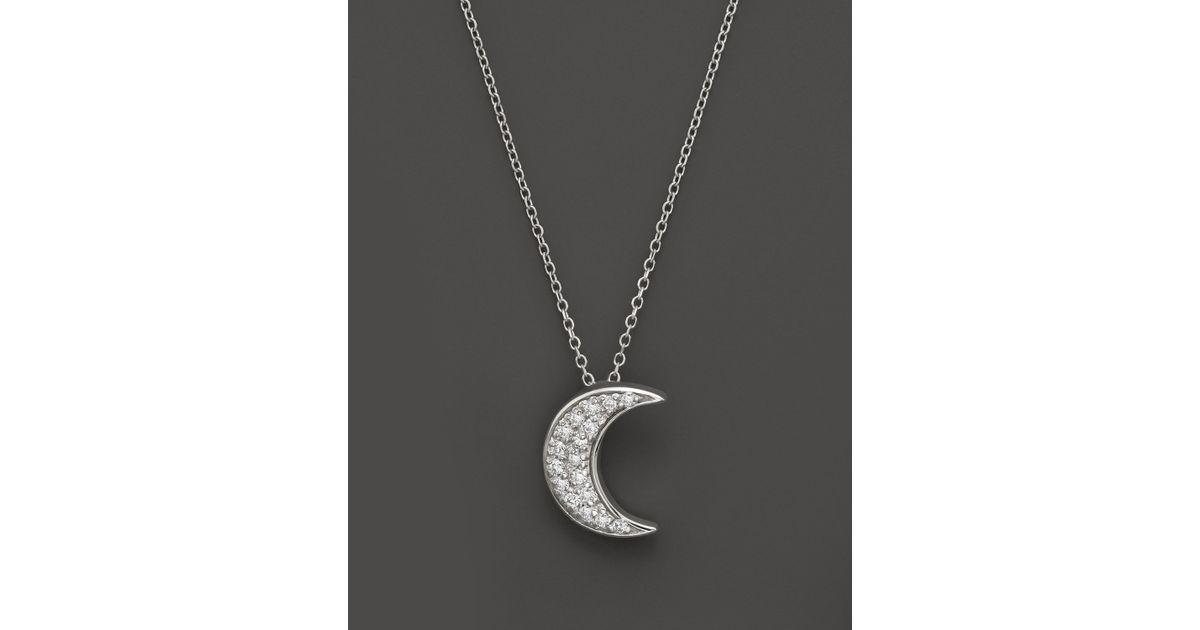 Lyst kc designs diamond crescent moon pendant in 14k white gold 15 lyst kc designs diamond crescent moon pendant in 14k white gold 15 ct tw in metallic aloadofball Image collections