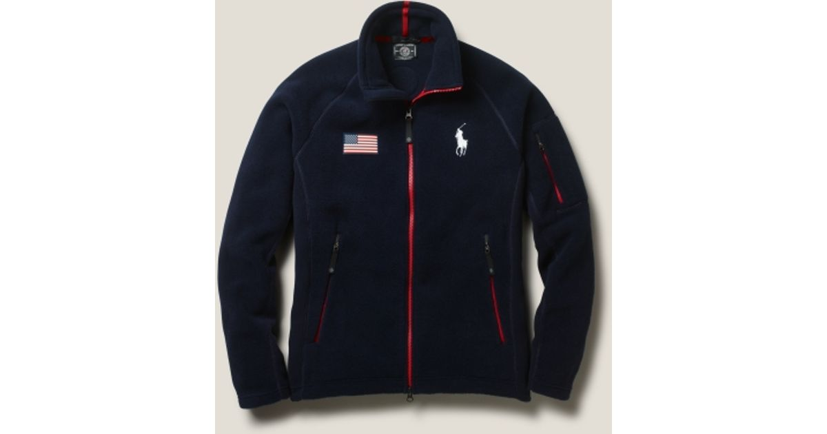Polo ralph lauren Team Usa Fleece Jacket in Blue for Men | Lyst
