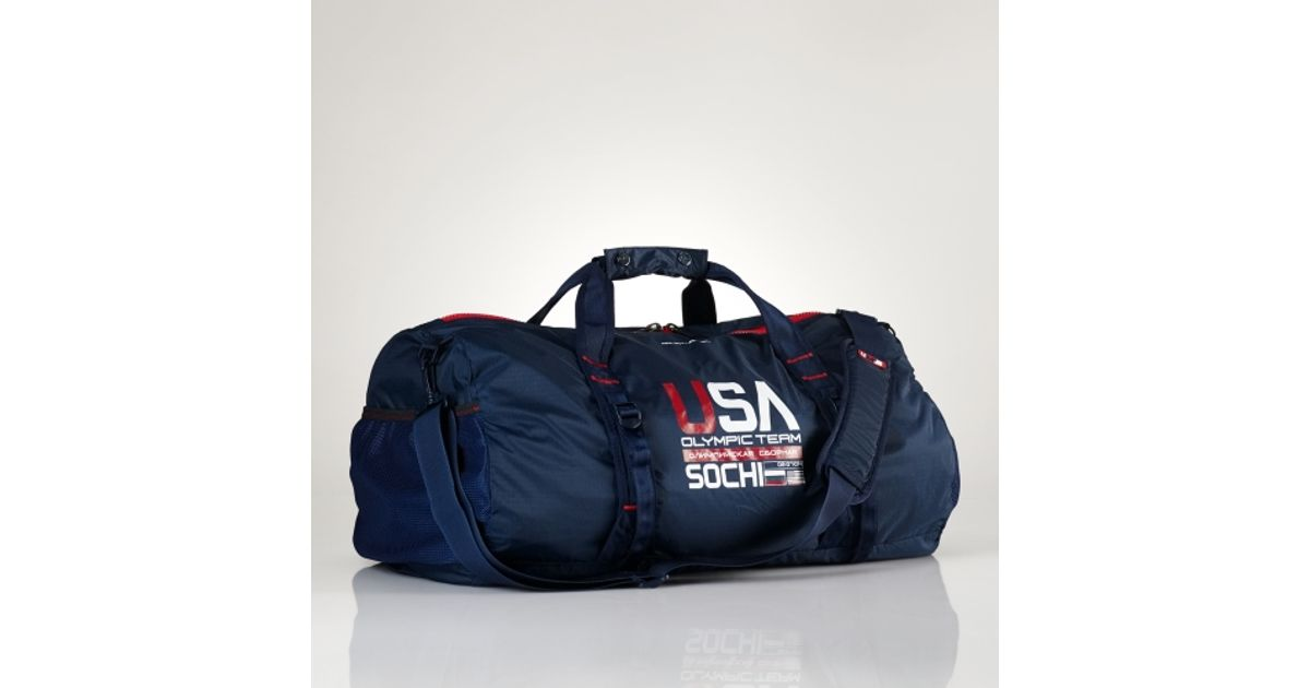 ac336bf1dd Lyst - Polo Ralph Lauren Team Usa Packable Duffel in Blue for Men