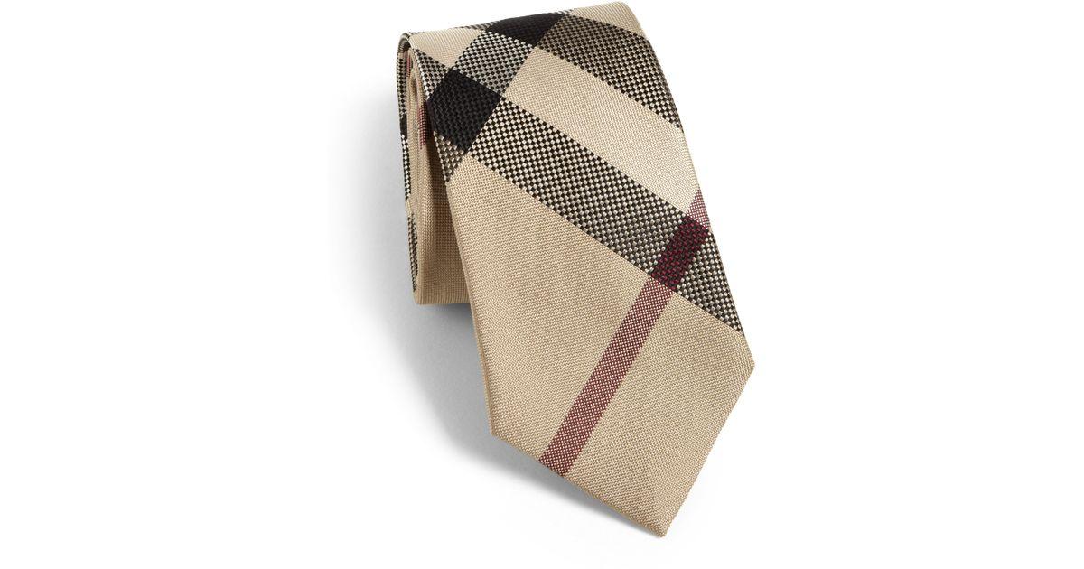 da40240dff30 ... nova check neck tie 9f251 b7a8c; new zealand lyst burberry rohan tie in  natural for men 3ece9 23e0b