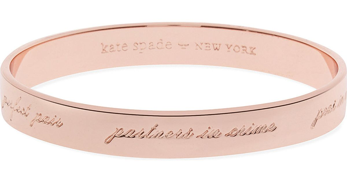 Kate Spade Engraved Bridesmaid Bangle In Pink Lyst