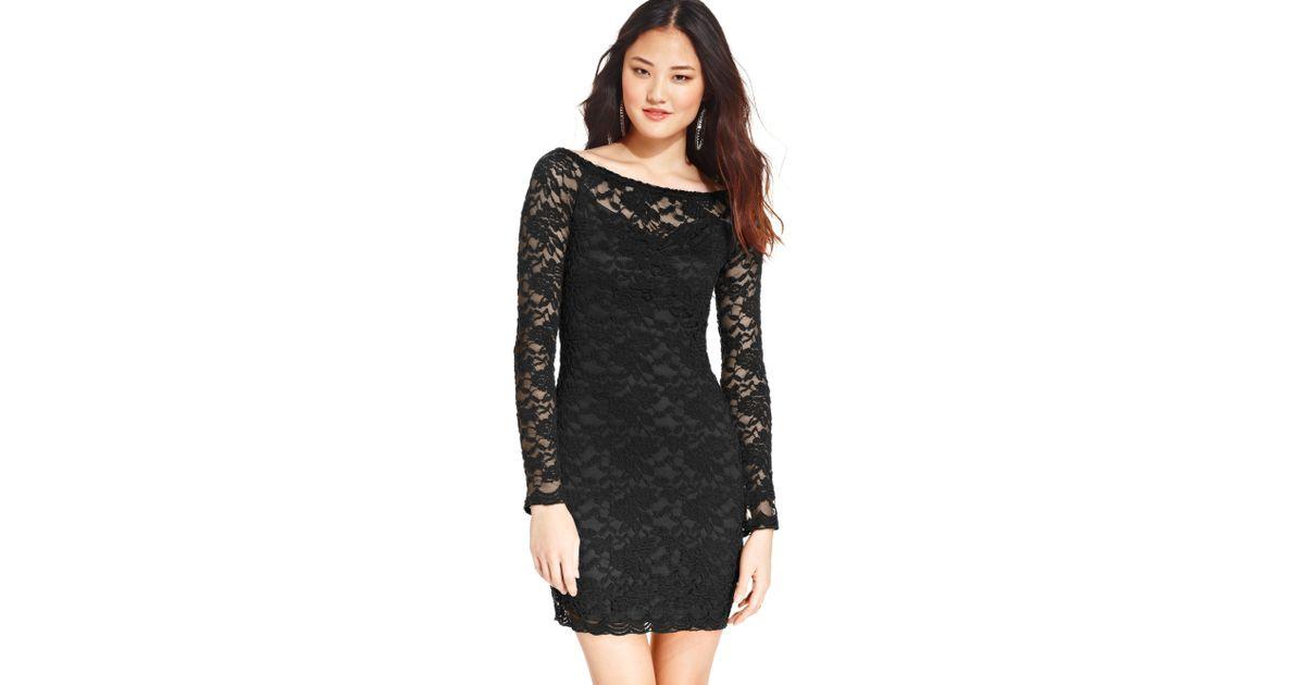 Black cocktail lace dresses juniors