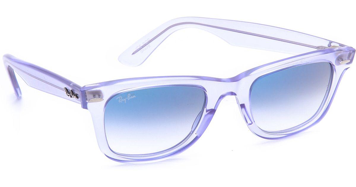 1e74209074 Ray-Ban Ice Pop Wayfarer Sunglasses in Blue - Lyst