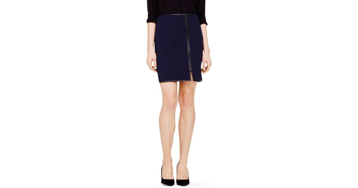 club monaco sarina pencil skirt in blue lyst