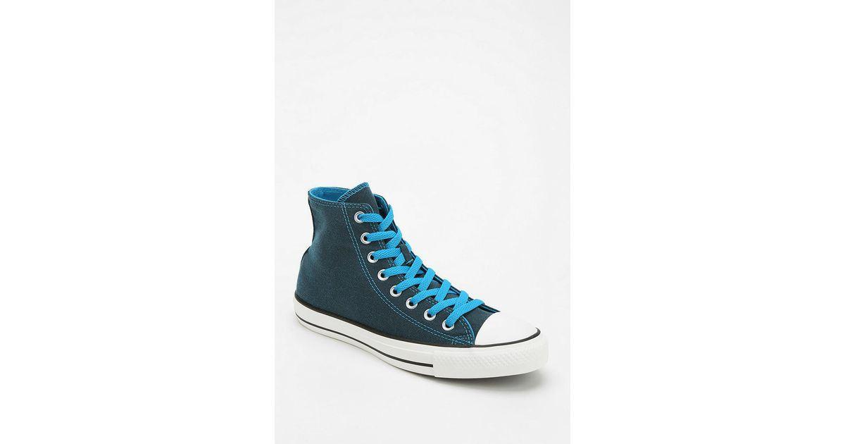 1202b0f3b9d916 Lyst - Converse Chuck Taylor All Star Dark Wash Neon Women S High-Top  Sneaker in Blue