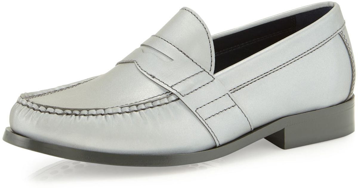 d9a14b1ae15 Lyst - Cole Haan Air Monroe Reflective Penny Loafer Silver in Metallic for  Men
