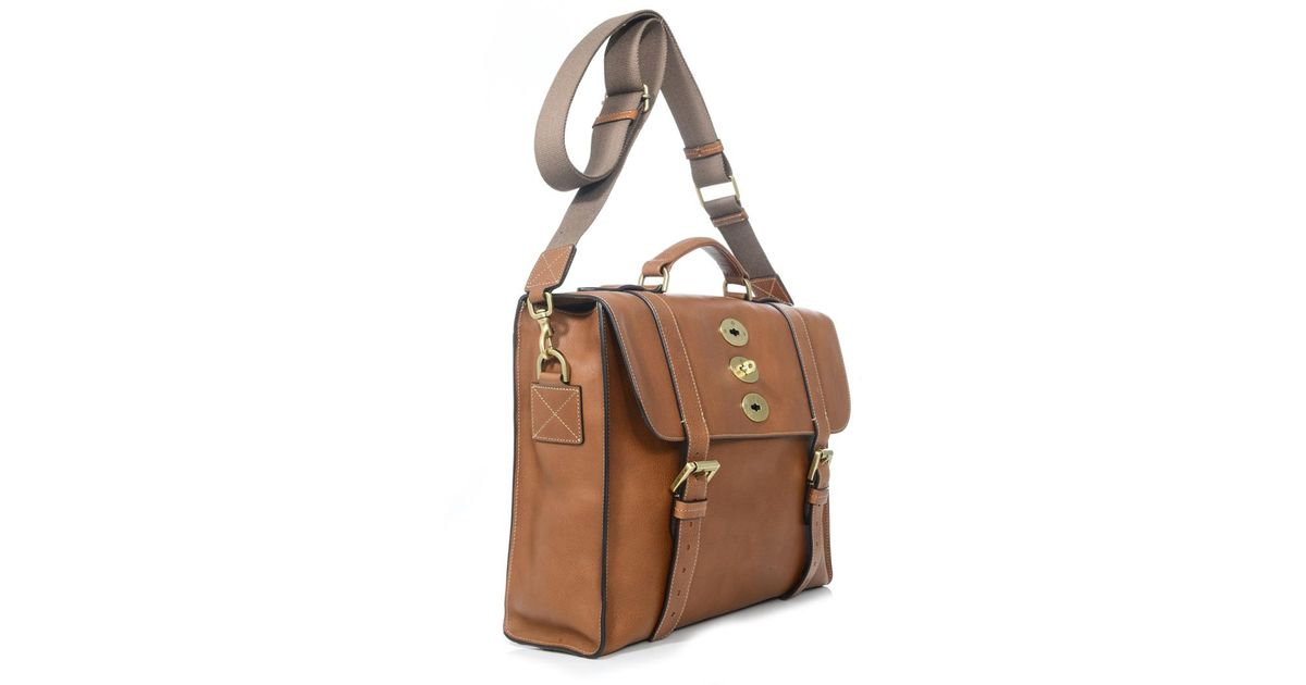 6781d353188e france mulberry antony large genuine mulberry a8e6b 9dc0a  official store  lyst mulberry ted leather briefcase in brown for men 0ba04 c7135