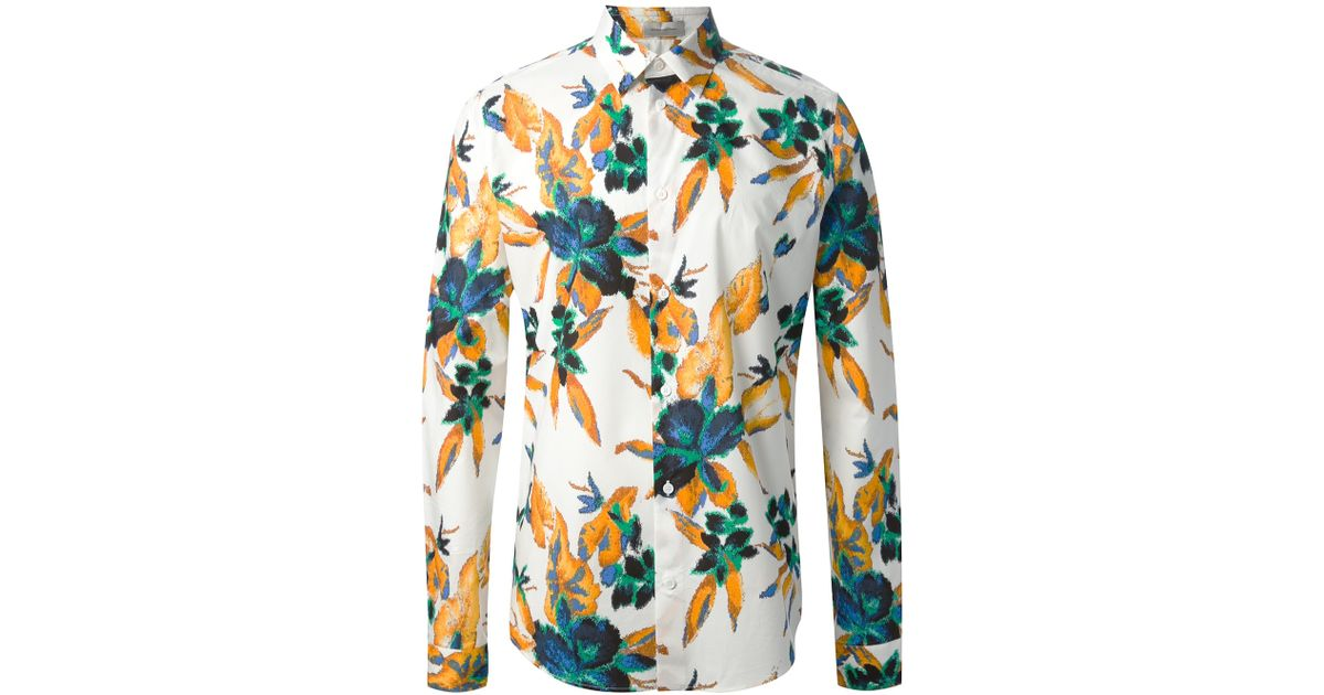 14a48e61c9f6 Lyst - Balenciaga Floral Print Shirt for Men