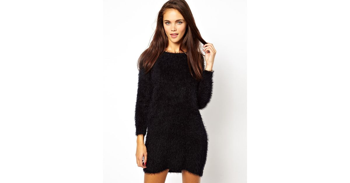 Lyst Cheap Monday River Island Super Soft Sweater Dress In Black