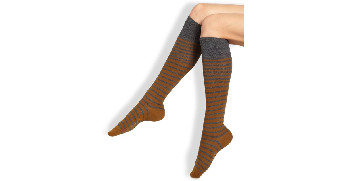 a09774a90d1 Lyst - Falke Striped Knee-high Socks in Brown