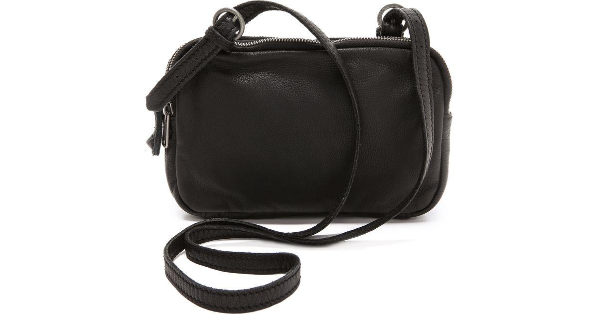 liebeskind maike cross body bag in black lyst. Black Bedroom Furniture Sets. Home Design Ideas