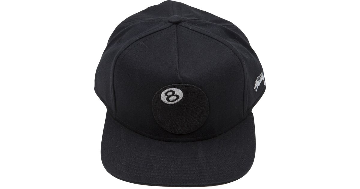 988f2fe03d8a83 Stussy 8ball Jersey Snapback in Black for Men - Lyst