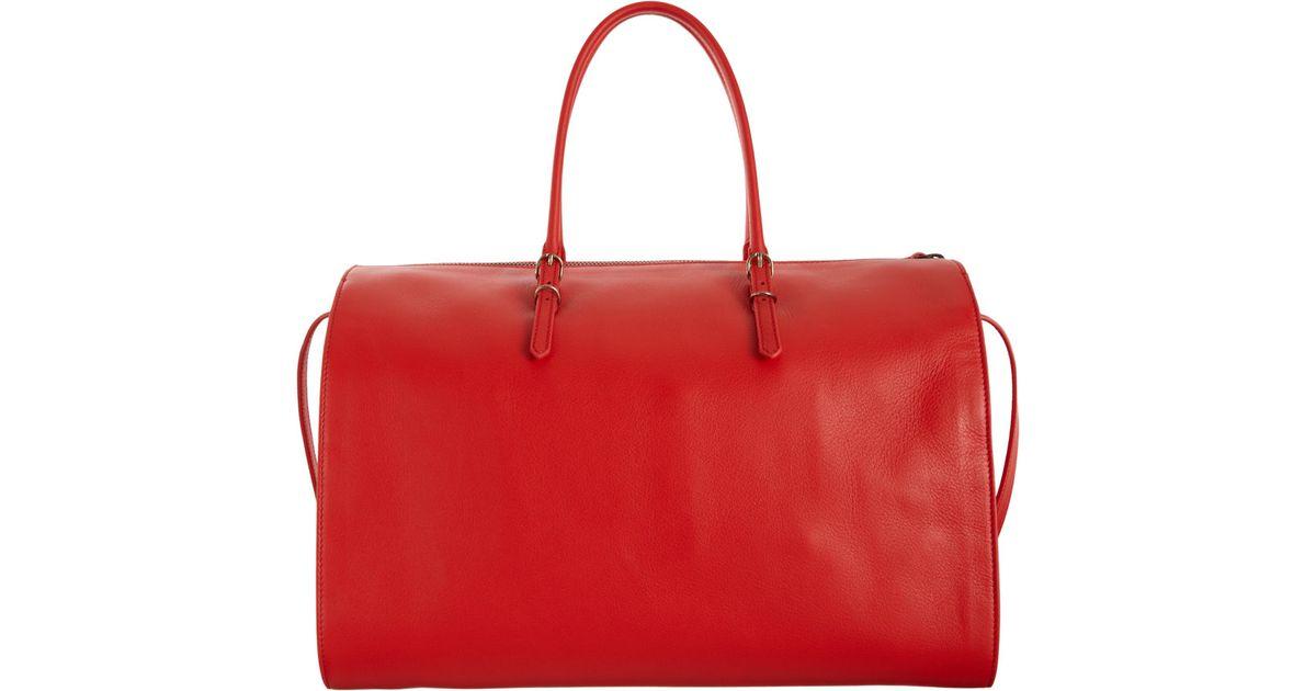 11841fa0780c Balenciaga Papier Bolster in Red - Lyst