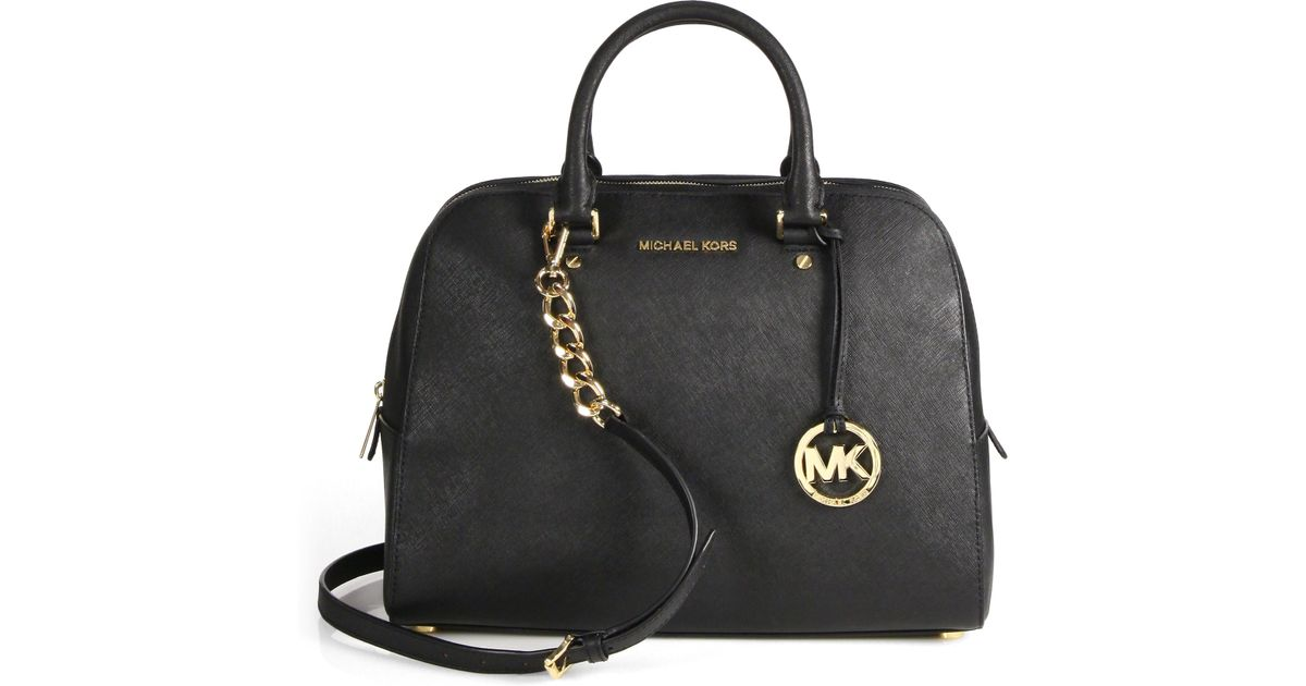 44232fade494d3 ... where can i buy lyst michael michael kors jet set travel satchel in  black 72af7 5b01a