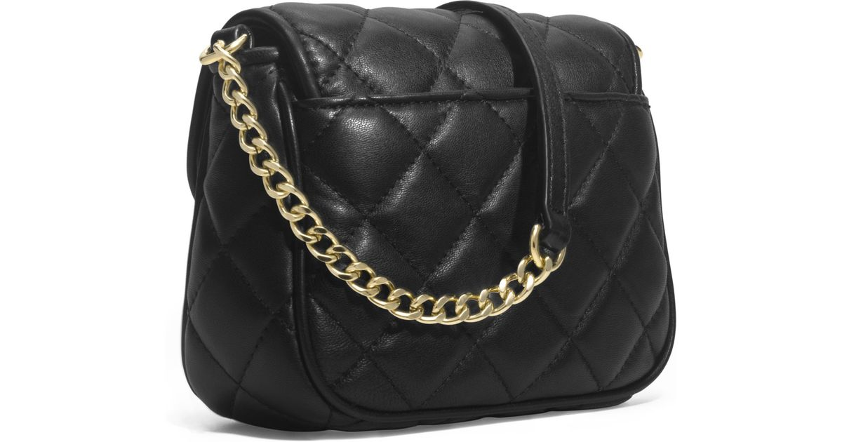 28e17e45bc95 MICHAEL Michael Kors Small Fulton Quilted Crossbody in Black - Lyst