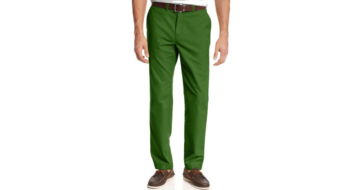 Tommy Hilfiger Green Slim Fit Graduate Chino Pants for men