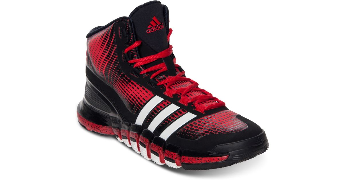 more photos cb0ed e01cf Lyst - adidas Mens Crazy Quick Basketball Sneakers From Finish Line in Red  for Men