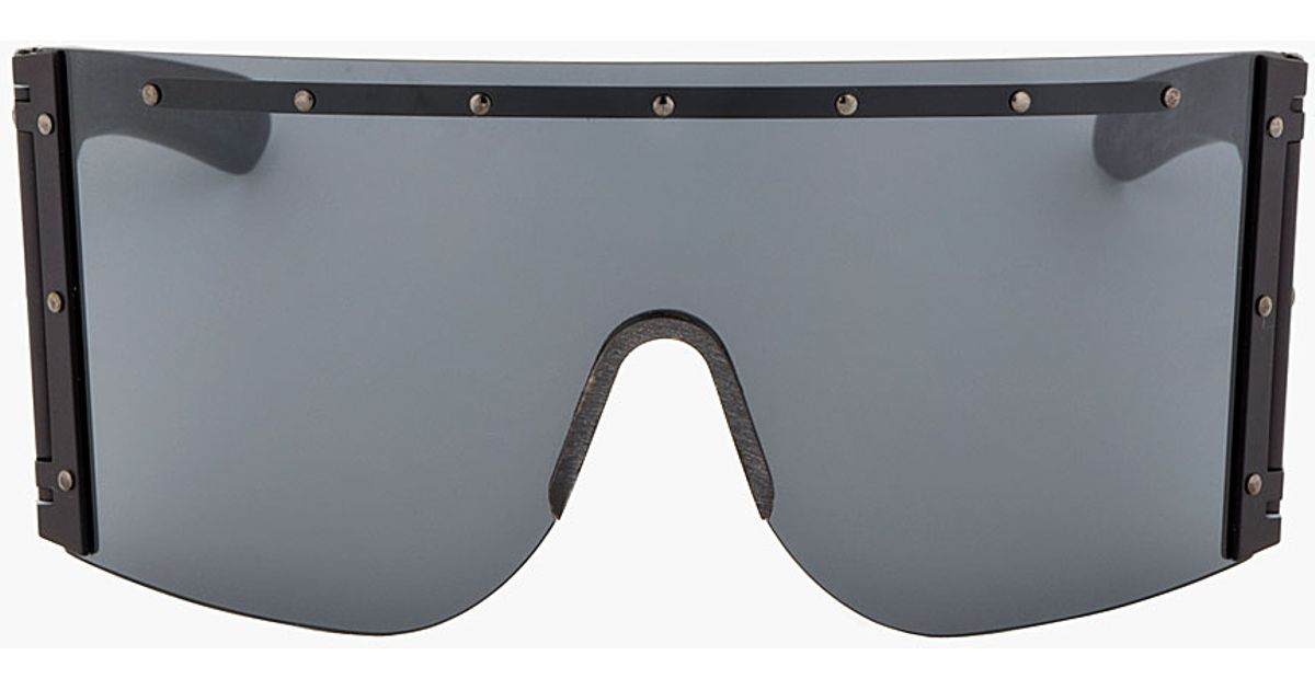 6bbe929157 Rick Owens Oversized Shield Sunglasses in Black for Men - Lyst