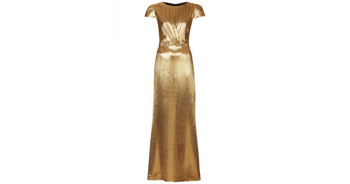 Topshop Limited Edition Lurex Maxi Dress In Metallic Lyst