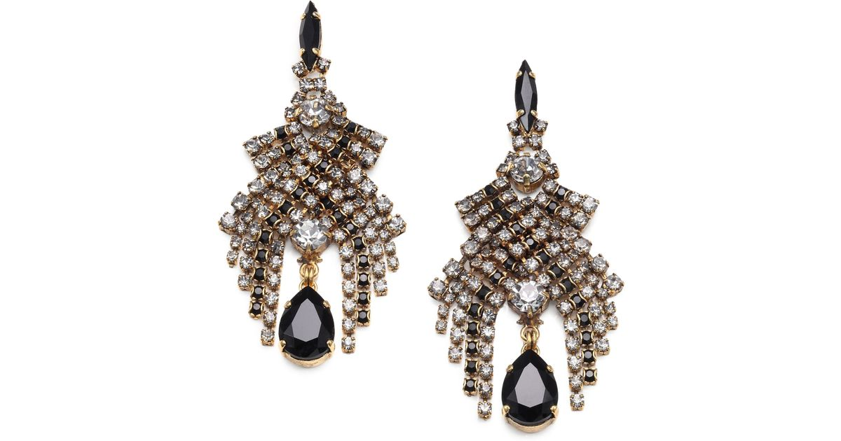 Lyst aerin erickson beamon swarovski crystal chandelier earrings mozeypictures Image collections