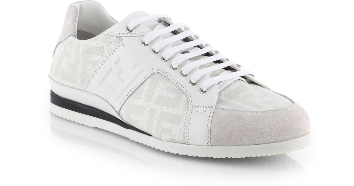 Affordable Sale Online Sale 2018 Newest lace-up sneakers - White Fendi Ebay Cheap Price SMnHNaM